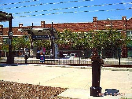 East/West Blvd. Light Rail Stop