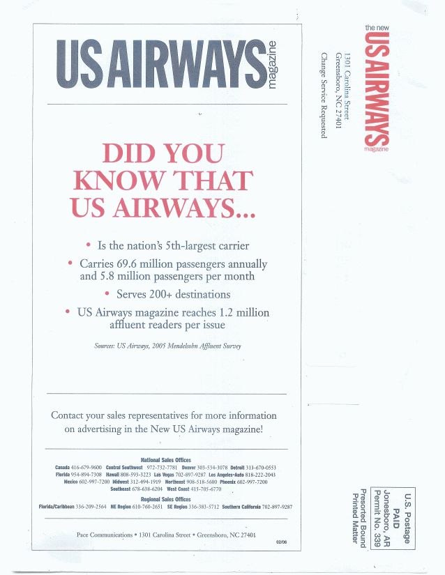 U.S. Airways Article!